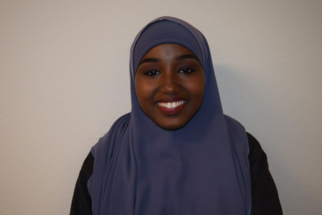 Asmaa is a senior at Hoover High School, she is on the Youth Advisory Council to discuss social issues in the community and how these issues can be tackled and applied with social work. She is in the Health Academy of her high school and plan on pursuing a career in the health field. She is heavily involved with educational programs such as College Avenue Compact, Wahupa, Realitychangers, and STEP UP. She is also the founder and president of her school's Muslim Students Association (MSA), vice president of her class, and member of the Black Student Union (BSU). She was born in Yemen and can speak Arabic, Somali, and English. Her favorite color is purple and in her spare time she likes to watch Chicago PD, Grey's Anatomy, the Walking Dead, and Pretty Little Liars.