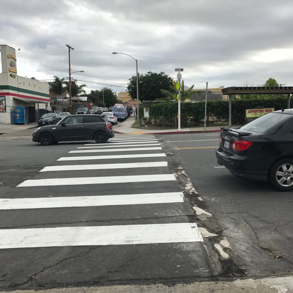 Crosswalk installation after months of advocacy