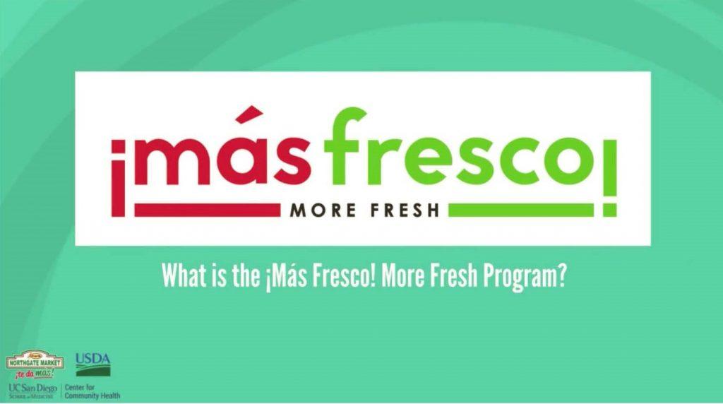 Ucsd Academic Calendar 2019.Mas Fresco More Fresh Ucsd Center For Community Health