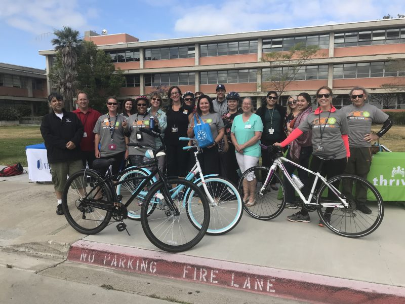 Bike to Work Day at San Diego Unified School District's Ed Center