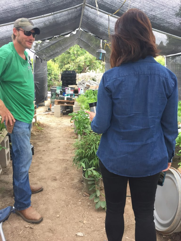 Chad Morris and Elle Mari at Green Cowboy Farm, Southeastern San Diego