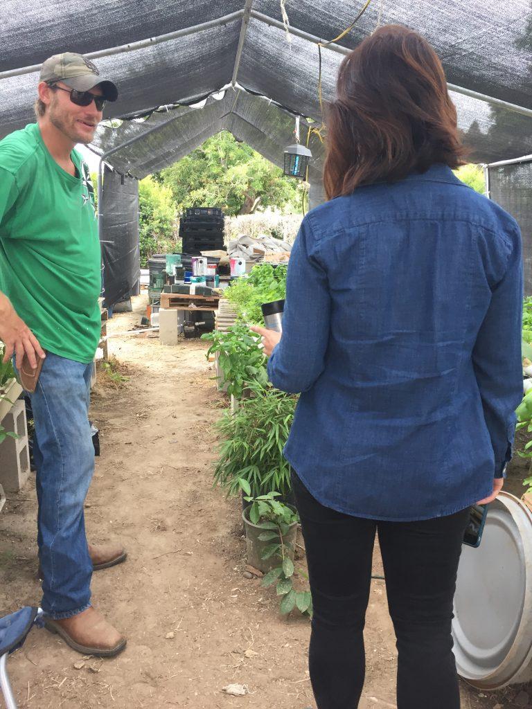 Chad Morris and Elle Mari at Green Cowboy Farm, Southeastern San Diego