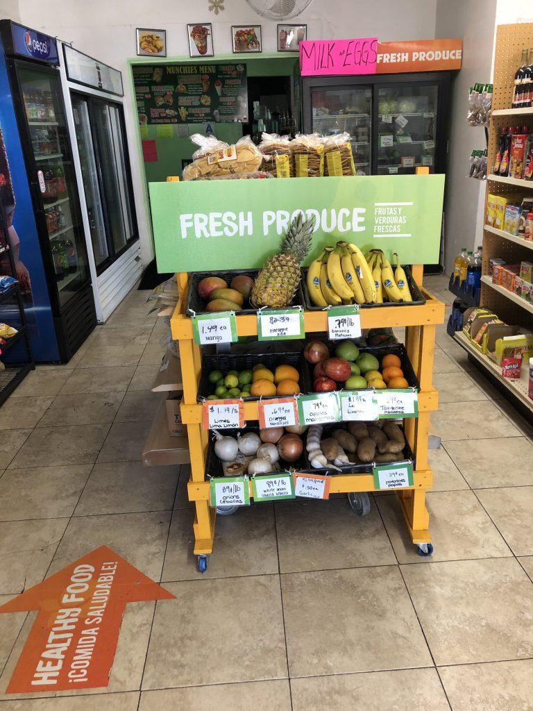 Fresh produce at Munchies Corner Store
