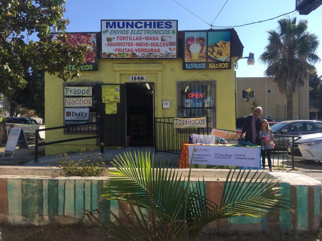Our Live Well Community Market Program outside Munchies Corner Store