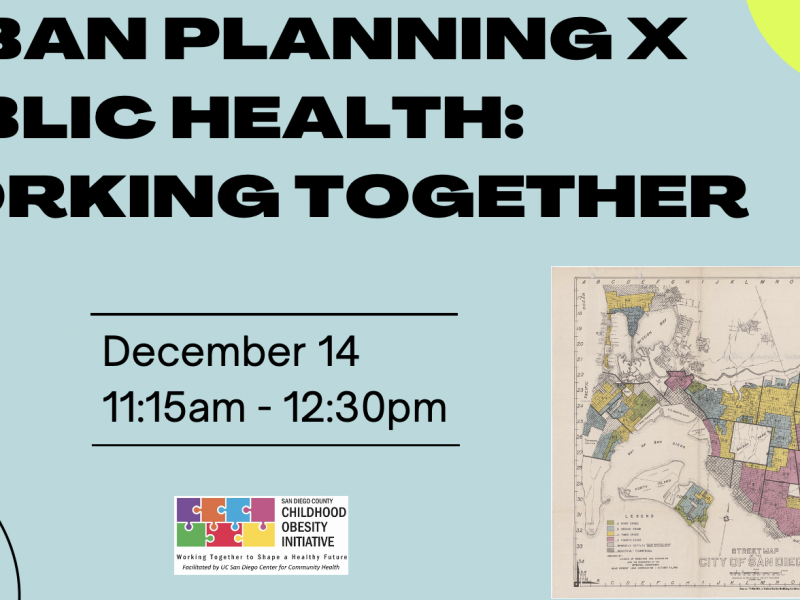 Urban Planning x Public Health: Working Together Forum